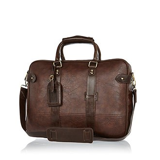 Dark Brown Holdall Bag, River Island, £30
