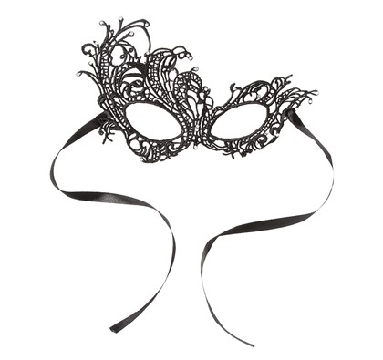 Black Lace Crystal Masquerade Mask