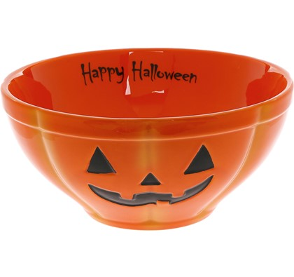 GRACE'S TEAWARE Orange Halloween Bowl