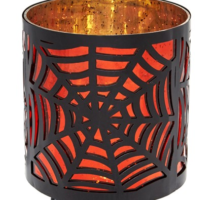 HALLOWEEN PARTY Black Spider Web Lantern