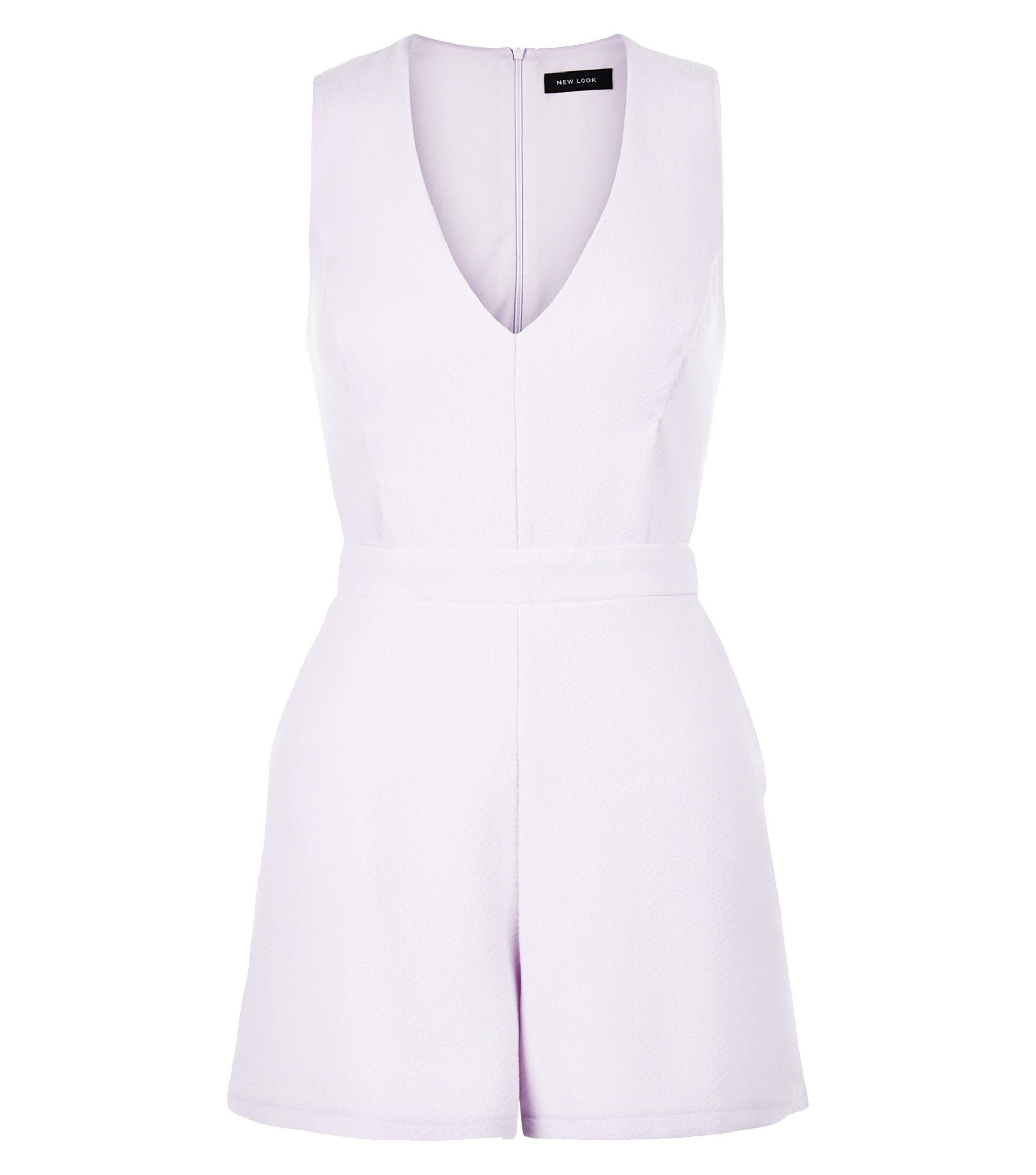 Lilac Sleeveless Playsuit