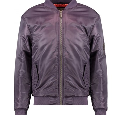 SOUL STAR MENS PURPLE BOMBER JACKET