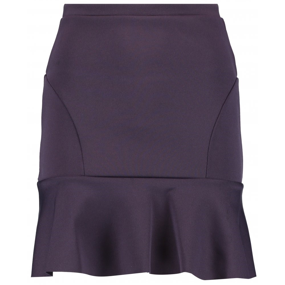 DAMNED DELUX LADIES PURPLE PLAIN MINI SKIRT