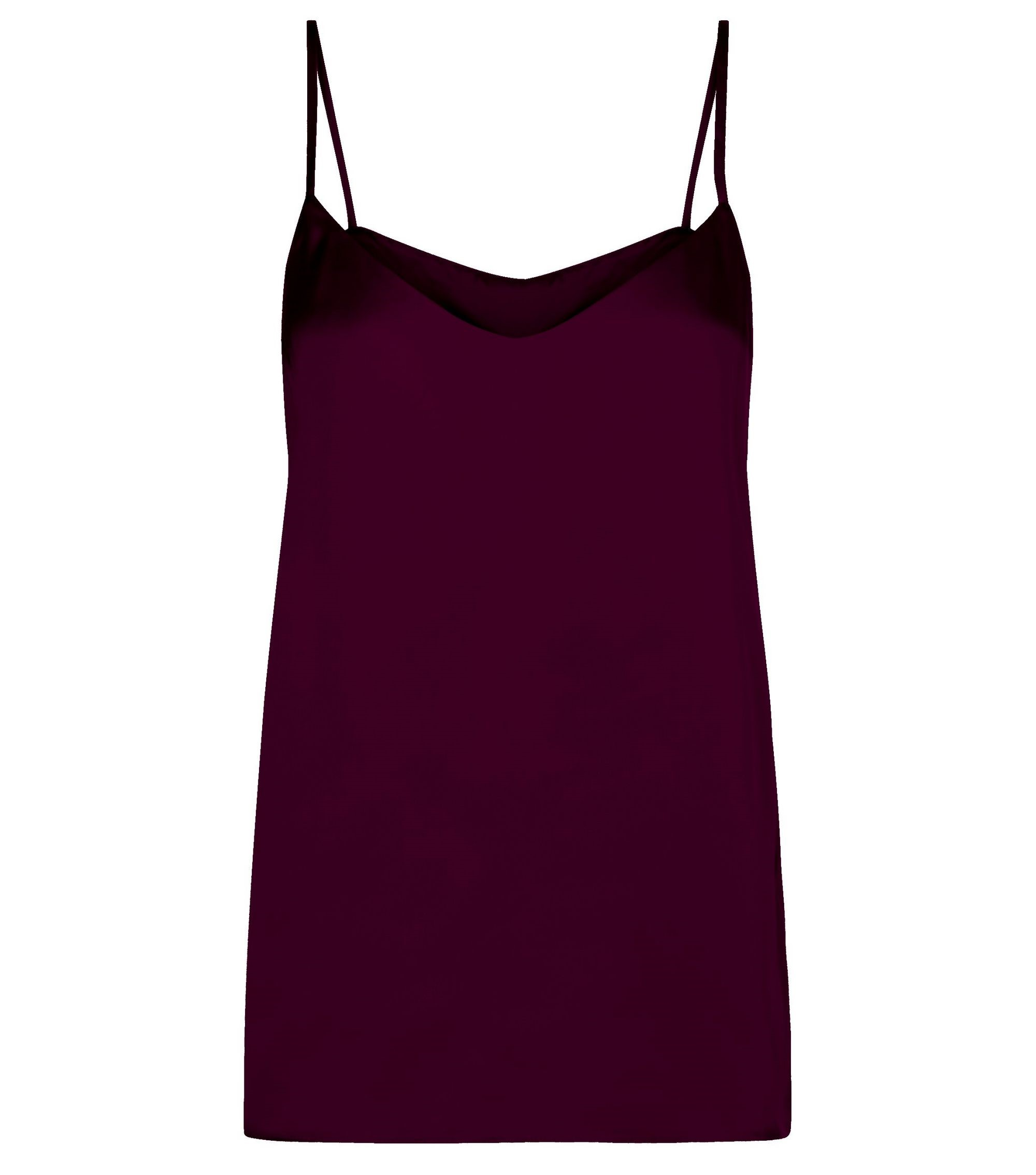 Dark Purple Sateen V Neck Cami