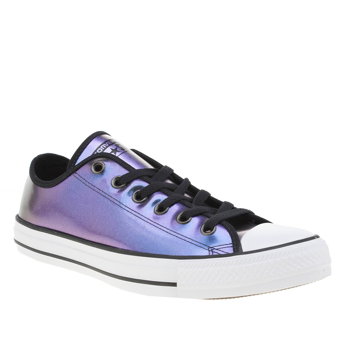Womens Converse purple all star iridescent ox trainers