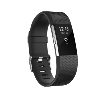 Fitbit Charge 2 Heart Rate & Fitness Wristband - Black Small