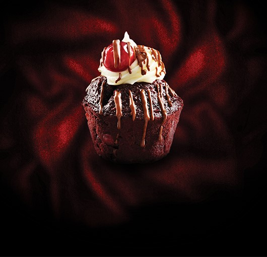 Introducing the Black Forest Velvet Muffin