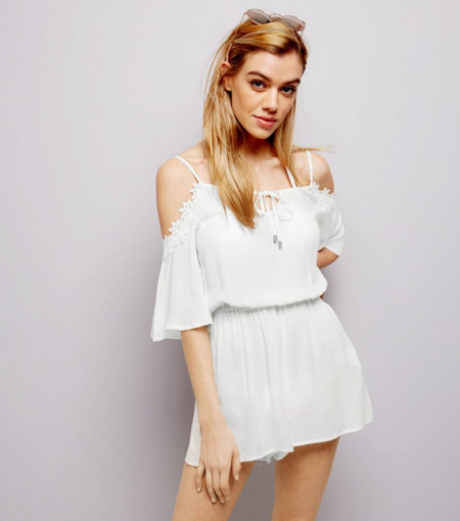 white cold sholder applique trim playsuit.PNG