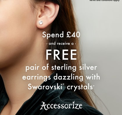 Free gift when you spend £40 with Accessorize!