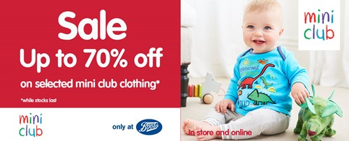 991debe1f Up to 70% Sale at Boots Mini Club - The Mall Blackburn