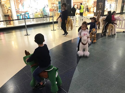kids activity at the mall