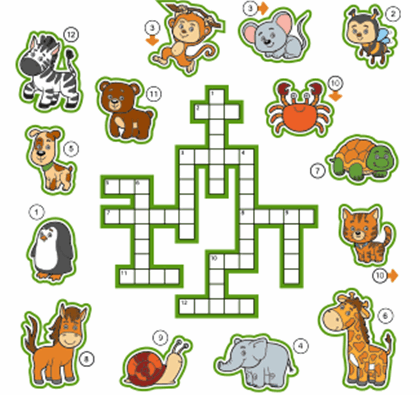 Kids Animal Crossword