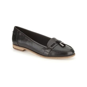 Angelica Crush Black Leather Womens Smart Shoes